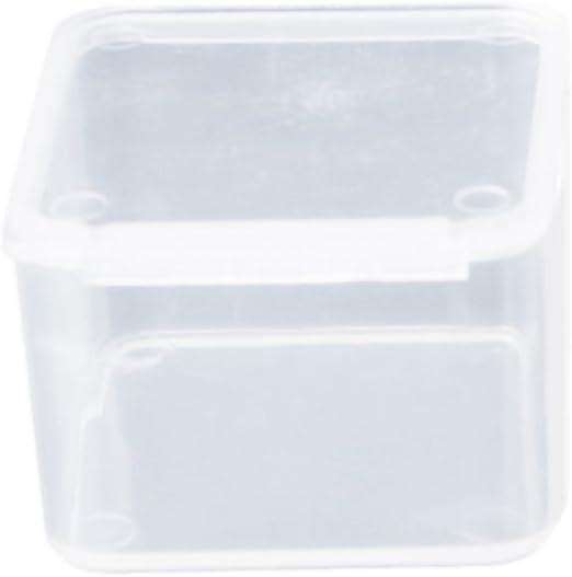JERKKY Caja de plástico 1 Pieza Pequeña Caja Cuadrada de plástico ...