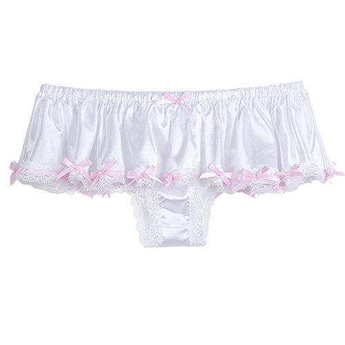 69cb439f7e2f CHICTRY Men's Sissy Underwear Silky Satin Skirted Frilly Panties Girlie  Knickers - Buy Online in Oman. | Clothing Products in Oman - See Prices, ...
