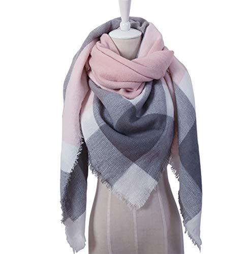 - Triangle Plaid Blanket Scarf Cozy Warm Winter Fall Cashmere Wrap Shawl for Women