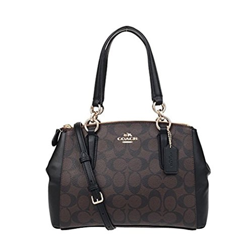 Coach F58290 Signature PVC Mini Christie Carryall Satchel Brown/Black (Coach Handbag Madison)