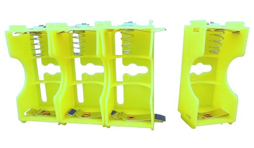 Ajax Scientific Battery Holder with Series and Parallel Connection, 1x D Cell (Case of 8)