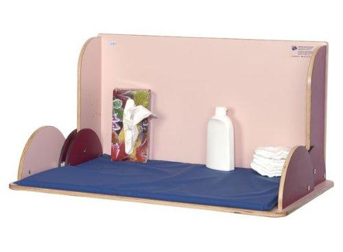 Wandwickeltisch im Querformat aus hochwertigem Holz erhältlich in Weiß oder Buche, Farbe:Buche
