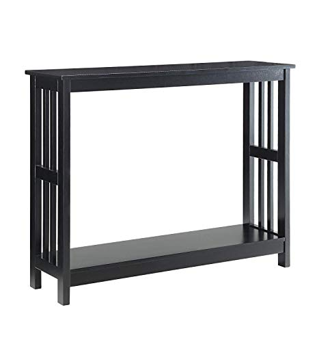 Convenience Concepts 203399BL Mission Console Table, Black