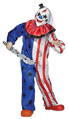 Fun World Evil Clown Costume, Medium 8 - 10, -
