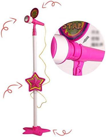 CXD Karaoke Kinder Standmikrofon,Kinder Mikrofon Verstellbarer Multifunktions Mikrofon Früherziehung Emulation Mädchen Junge Geschenk,2 1