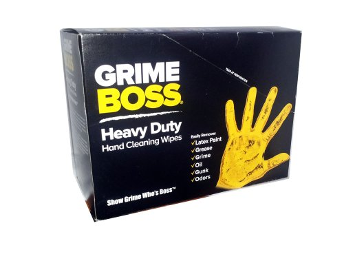 Grime Boss Heavy Duty Hand Cleaning Wipes 6 Packs Of 30 Wipes Each