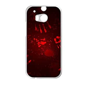 Blood fingerprints personalized creative custom protective phone case for HTC M8