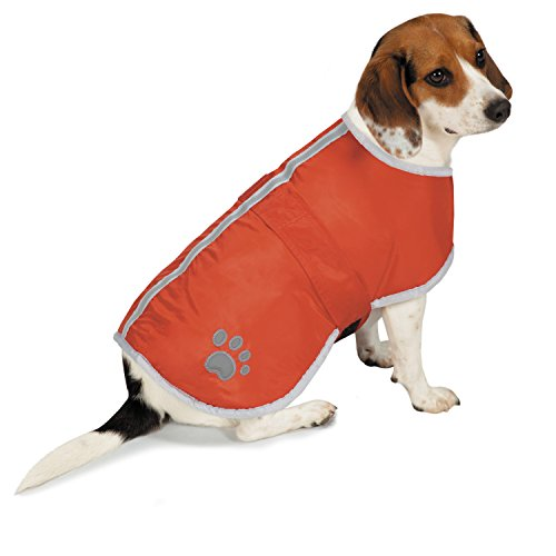 Zack & Zoey ThermaPet Forest Friends Reversible Thermal Nor'Easter Coats—Innovative Water-Resistant Coats for Dogs Designed to Keep Pets Warm Using Their Own Body Heat, Not Electricity