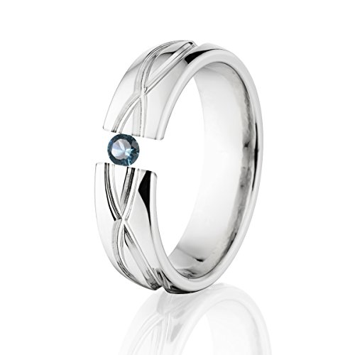 London Blue Topaz Ring Titanium Infinity Tension Set Jewelry Stunning London Blue Topaz Band