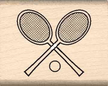Stamps by Impression ST 0156 Tennis Rackets Rubber Stamp