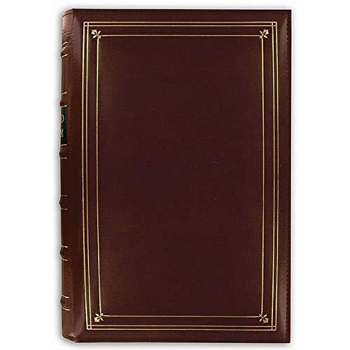 Pioneer Photo Albums Pioneer European Bonded Red Leather 3-Ring Bi-Directional Memo Album with 60 Bonus Pockets