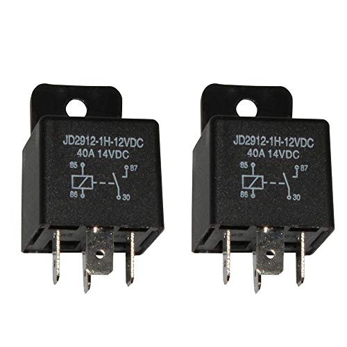 Resistance Relay Coil (Ehdis Car Relay 4 Pin 12v 40amp Spst Model No.: JD2912-1H-12VDC 40A 14VDC, Auto Switches & Starters, 2 Pack)