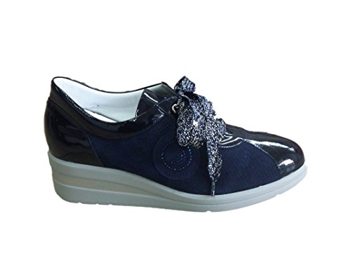 Confort Camoscio 2211 In Blu Estraibile Vernice Plantare Donna E Con Sneaker 11qxrgB