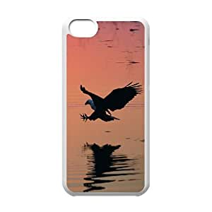 wugdiy New Fashion Hard Back Cover Case for iPhone 5C with New Printed Eagle