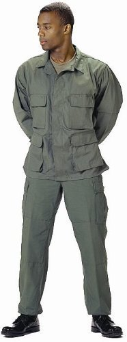 7838 Military BDU Pants, Army Cargo Fatigues (Olive Drab, Size (Bdu Cargo Pants Olive Drab)
