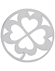 MS Koins Stainless Steel Coin 4 Leaf Clover Fits Our Coin Locket System, 30mm Diameter