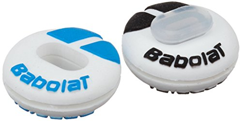 Babolat Custom Damp Vibration Dampener (White/Blue)