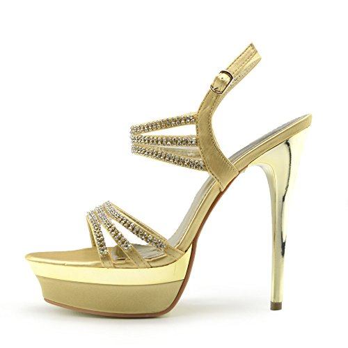Shoes Party Footwear Kick Womens Gold Platform Heel High RwwvFSTq