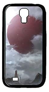 Samsung Galaxy S4 I9500 CaseRed Planet PC Hard Plastic Case for Samsung Galaxy S4 I9500 Black