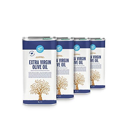 Amazon Brand – Happy Belly 100% Greek Extra Virgin Olive Oil – Mild (1 x 1L)