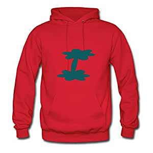 Vogue Informal Customized Long-sleeve Unique_tree Vector Art Women X-large Red Hoody