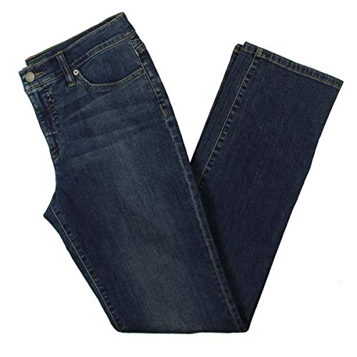 Lauren Ralph Lauren Womens Stretch Dirty Wash Straight Leg Jeans Blue 4
