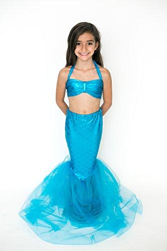 Mermaid Halloween Costume (Girls 4, Turquoise) (Kim Kardashian's Halloween Costumes)