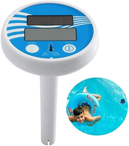 Bearbro Solar Swimming Pool Thermometer,Digital Pool Thermometer Sinking Bath Water Floating Thermometer Easy Read for Shatter Resistant for Swimming Pool Spas,Hot Tubs