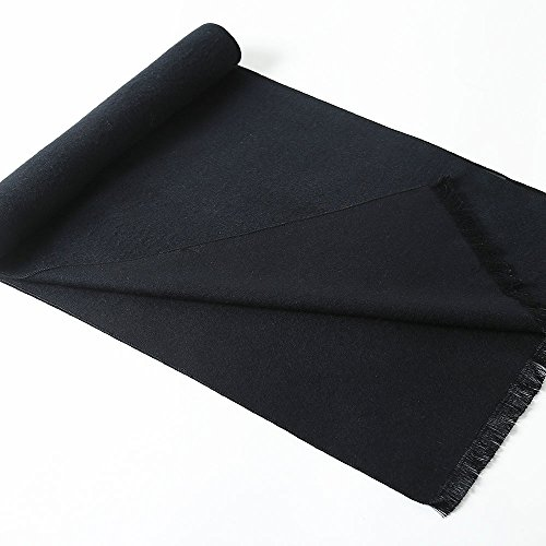 OHAYOMI Mens Winter Cashmere Scarf Fashion Formal Soft Scarves for Men(Black) by OHAYOMI (Image #3)
