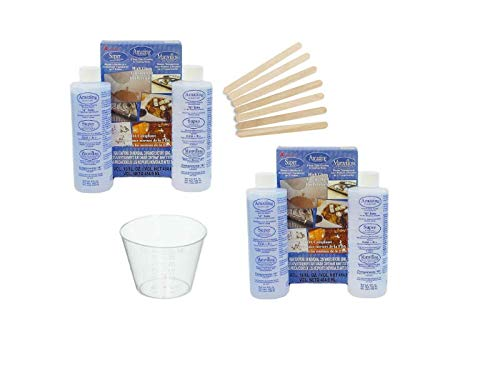 Alumilite Amazing Clear cast epoxy Resin 16 Ounces 2 Pack with Bonus 10 Disposable 1oz. Medicine Cups Graduated and 7 Mixing Sticks