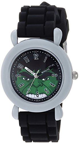 Marvel Boy's 'Avengers' Quartz Plastic and Silicone Casual Watch, Color:Black (Model: WMA000239)