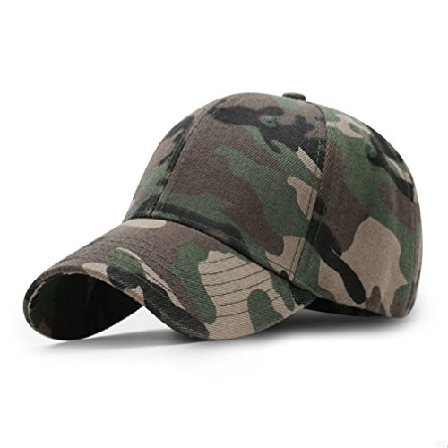 GADIEMKENSD Sport Hat Breathable Outdoor Run Cap camouflage Baseball cap Shadow Structured hat (camo Army Green) (Us Camo Army Hat)