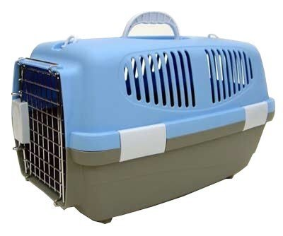 Brand New Dog Cat Pet Kennel Travel Crate Cage Carrier Z100S-Blue