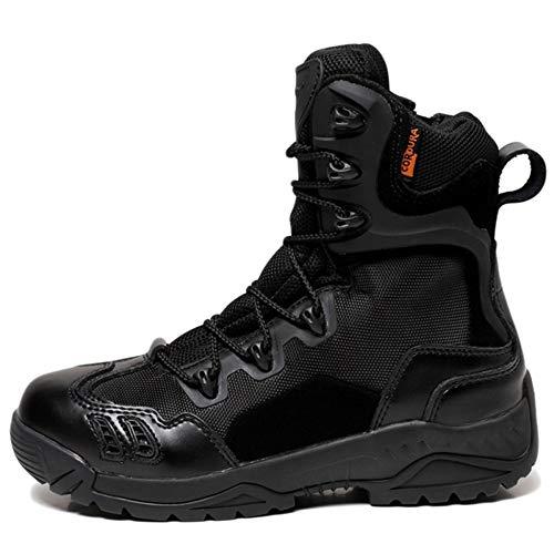 Le High dell'Esercito Addestrato da Assault Combattimento Boot Uomini di Black degli Tactics Speciali di Combattono All'aperto Terra Desert Scarpe Alpinismo Forze Gli Stivali Top r0UvSrwn