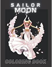 sailor moon: Coloring book for adults and children with exciting and beautiful features and features