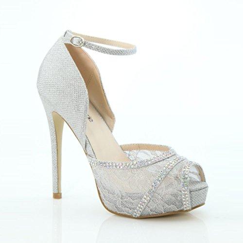 Bella Marie Mujeres Helena-20 Pumps Zapatos Plata