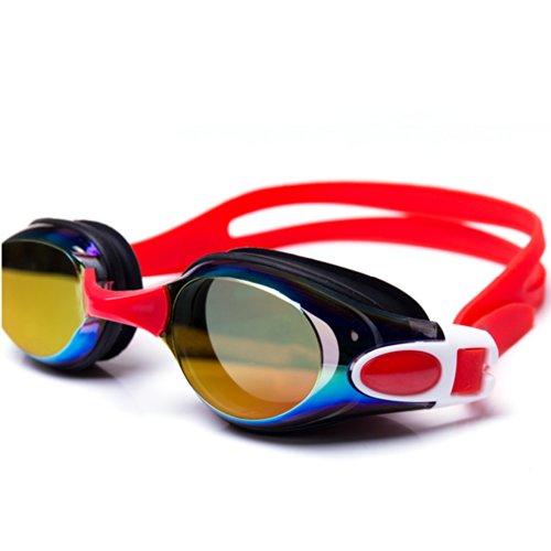 Ispeed Mirror Pro Swim Goggle (Red/Purple)