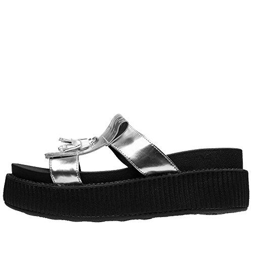 Mule Shoes K Kiltie U Women's Edition Limited Silver on Slip Silver T 6q0xv5wyEx