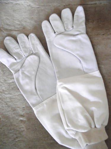 Top Imkerhandschuhe, Schaf- und Lamm-Nappahandschuhe für Imker - gutes Tastgefühl - Größen 6-14 - extra lange Stulpe (4)