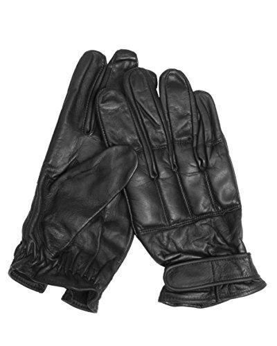 gants plombes au sable, en cuir noir, Taille:L
