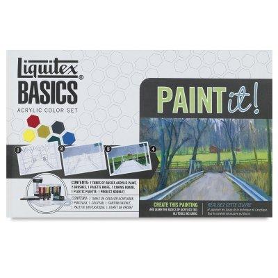 Liquitex BASICS Acrylic Paint-It! Kit (Liquitex Basics Series)