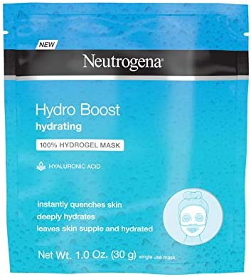 Amazon Com Neutrogena Hydro Boost Moisturizing Hydrating 100 Hydrogel Sheet Mask Face Mask For Dry Skin With Hyaluronic Acid Gentle Non Comedogenic 1 Oz Pack Of 12 Health Personal Care
