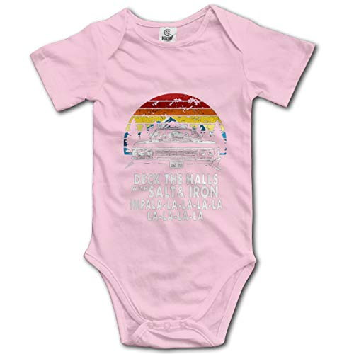 Deck The Halls with Salt and Iron Impala La La La Baby Short-Sleeve Bodysuit Pink (Deck The Halls With Salt And Iron Shirt)