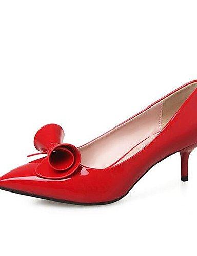 ZQ Zapatos de mujer-Tac¨®n Robusto-Tacones-Tacones-Casual-PU-Negro / Rosa / Rojo / Almendra , pink-us8 / eu39 / uk6 / cn39 , pink-us8 / eu39 / uk6 / cn39 almond-us6 / eu36 / uk4 / cn36