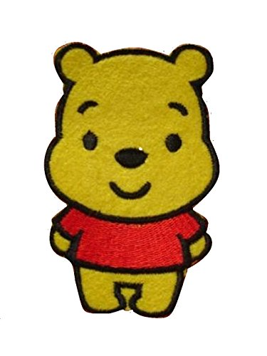 Baby Bear Iron On Patch Applique Fabric Motif Children Cartoon Decal 3.1 x 2.1 inches (7.8 x 5.4 cm)