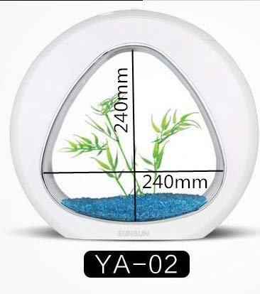 SUNSUN Ecology Fish Tank Integration Filter LED Light System Mini Nano Tank Office Aquarium 4L 6L 110V-240V   bluee, Gree