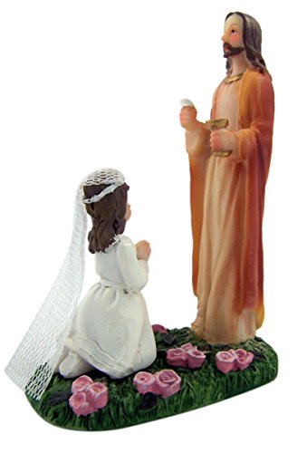 (First Communion Jesus Christ with Praying Girl Figurine, 5)