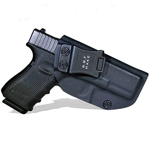 B.B.F Make IWB KYDEX Holster Fit: Glock 19 19X 23 32 45 (Gen 1-5) | Retired Navy Owned Company | Inside Waistband | Adjustable Cant (Black, Right Hand Draw (IWB))