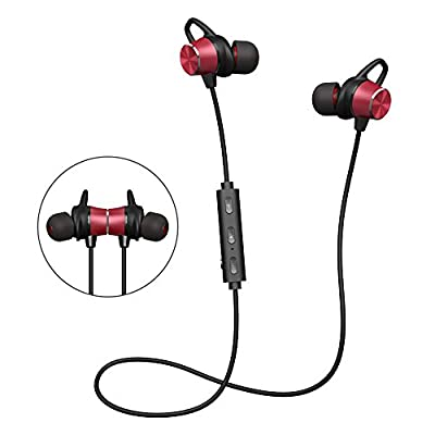 Bluetooth Earbuds, GRDE Bluetooth Headphones Magnetic Wireless Earbuds Stereo In-Ear Earphones Noise Cancelling Running Headset with Mic for iPhone 7 Plus Samsung Note 8 Cell Phones