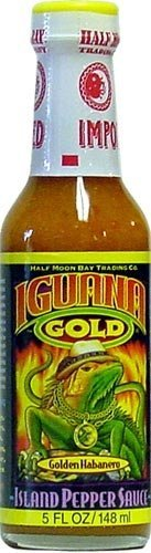 Iguana, Gold Island Pepper Sauce, 5 Ounce Bottle